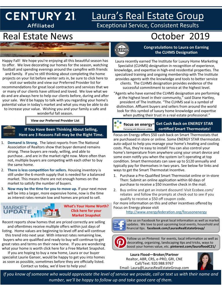 October Real Estate News